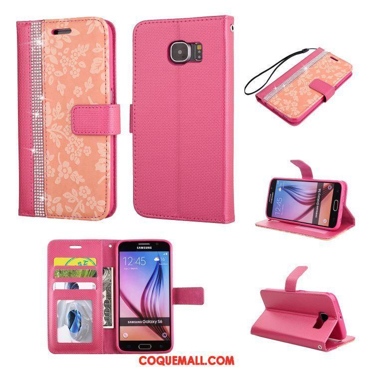 Étui Samsung Galaxy S6 Silicone Protection Ornements Suspendus, Coque Samsung Galaxy S6 Tout Compris Or