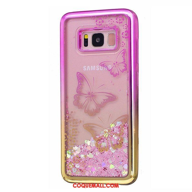 Étui Samsung Galaxy S7 Étoile Téléphone Portable Violet, Coque Samsung Galaxy S7 Quicksand Liquide