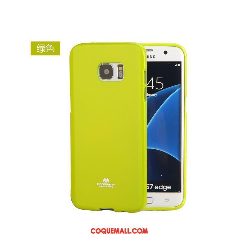 Étui Samsung Galaxy S7 Protection Jaune Étoile, Coque Samsung Galaxy S7 Très Mince Silicone