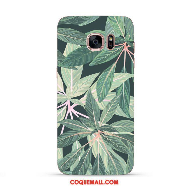 Étui Samsung Galaxy S7 Vert Téléphone Portable Étoile, Coque Samsung Galaxy S7 Fluide Doux Art