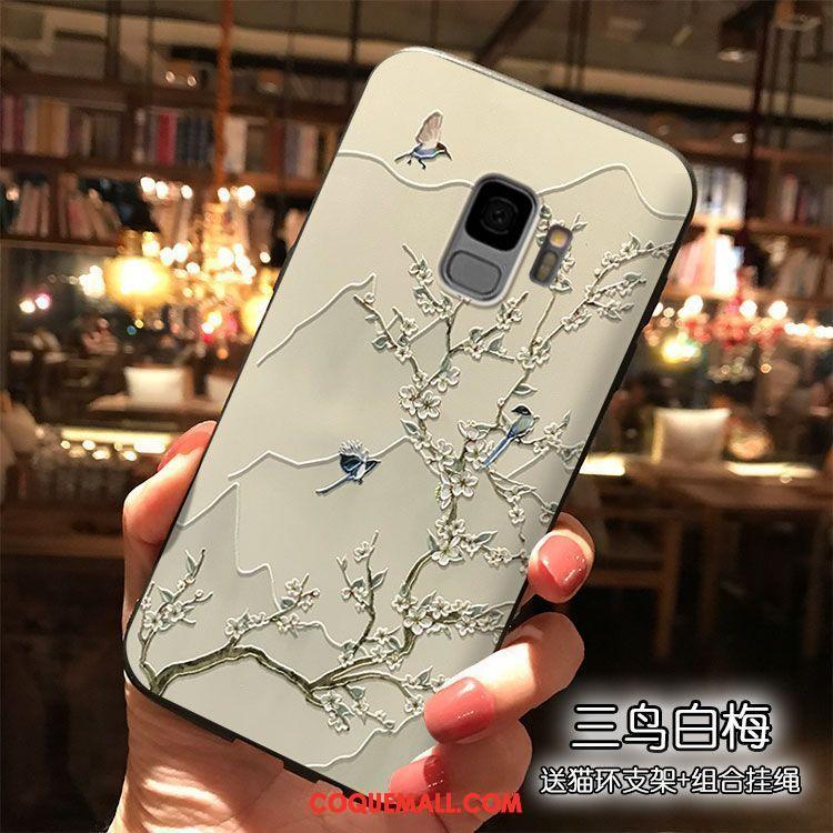 Étui Samsung Galaxy S9 Silicone Étoile Vent, Coque Samsung Galaxy S9 Support Téléphone Portable