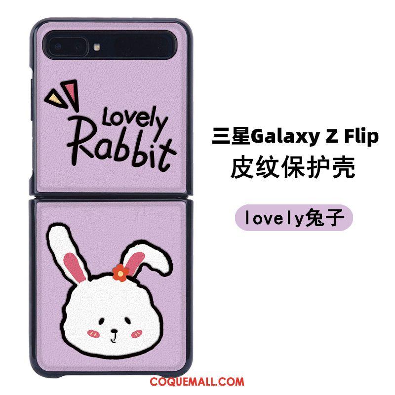 Étui Samsung Z Flip Cuir Modèle Fleurie Charmant, Coque Samsung Z Flip Gaufrage Protection