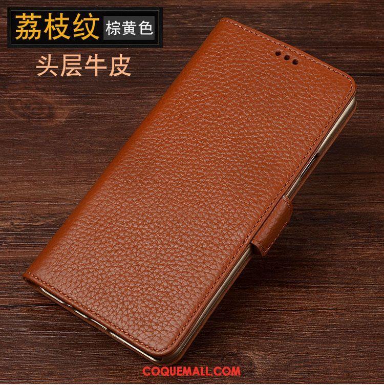Étui Sony Xperia L1 Protection Téléphone Portable Étui En Cuir, Coque Sony Xperia L1 Cuir Véritable Braun