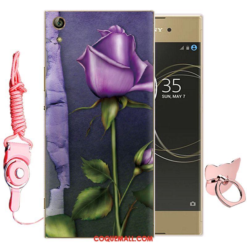 Étui Sony Xperia Xa1 Ultra Fluide Doux Dessin Animé Silicone, Coque Sony Xperia Xa1 Ultra Violet Téléphone Portable