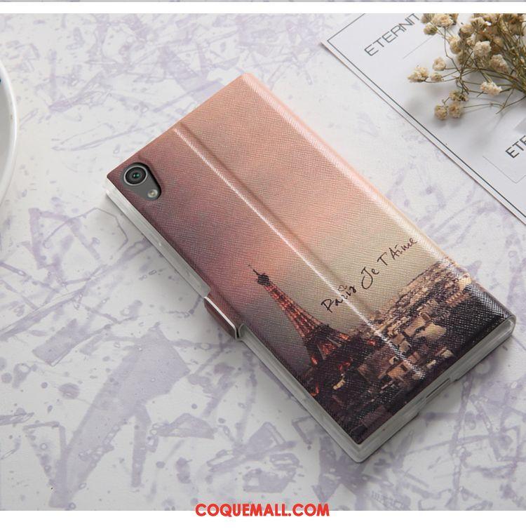 Étui Sony Xperia Xa1 Ultra Protection Étui En Cuir Fluide Doux, Coque Sony Xperia Xa1 Ultra Noir Incassable