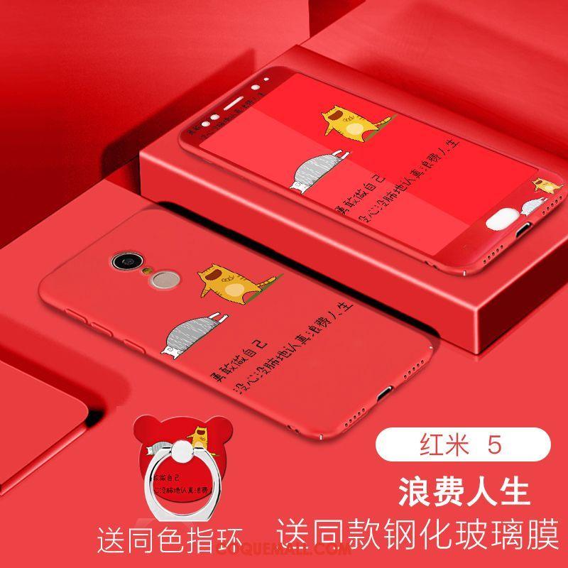 Étui Xiaomi Redmi 5 Difficile Membrane Rouge, Coque Xiaomi Redmi 5 Fluide Doux Téléphone Portable Beige