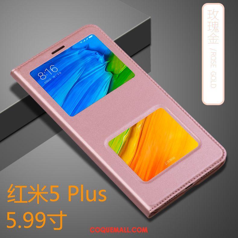 Étui Xiaomi Redmi 5 Plus Rouge Tout Compris Incassable, Coque Xiaomi Redmi 5 Plus Or Protection Beige
