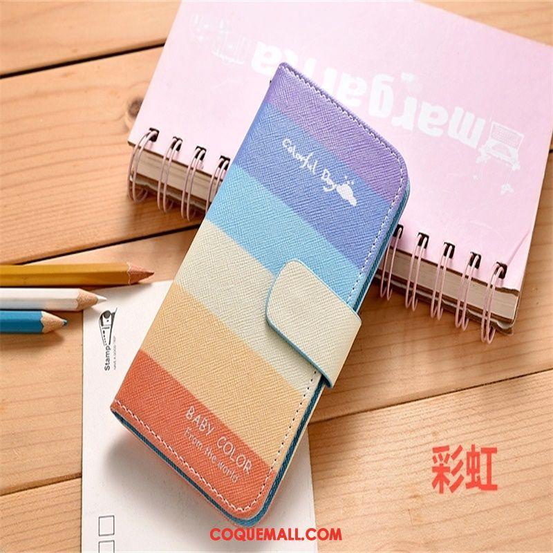 Étui Xiaomi Redmi 6 Rouge Étui En Cuir Fluide Doux, Coque Xiaomi Redmi 6 Incassable Bleu Beige