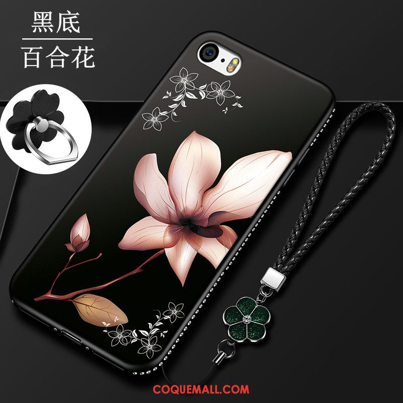 coque iphone 5 silicone fleur