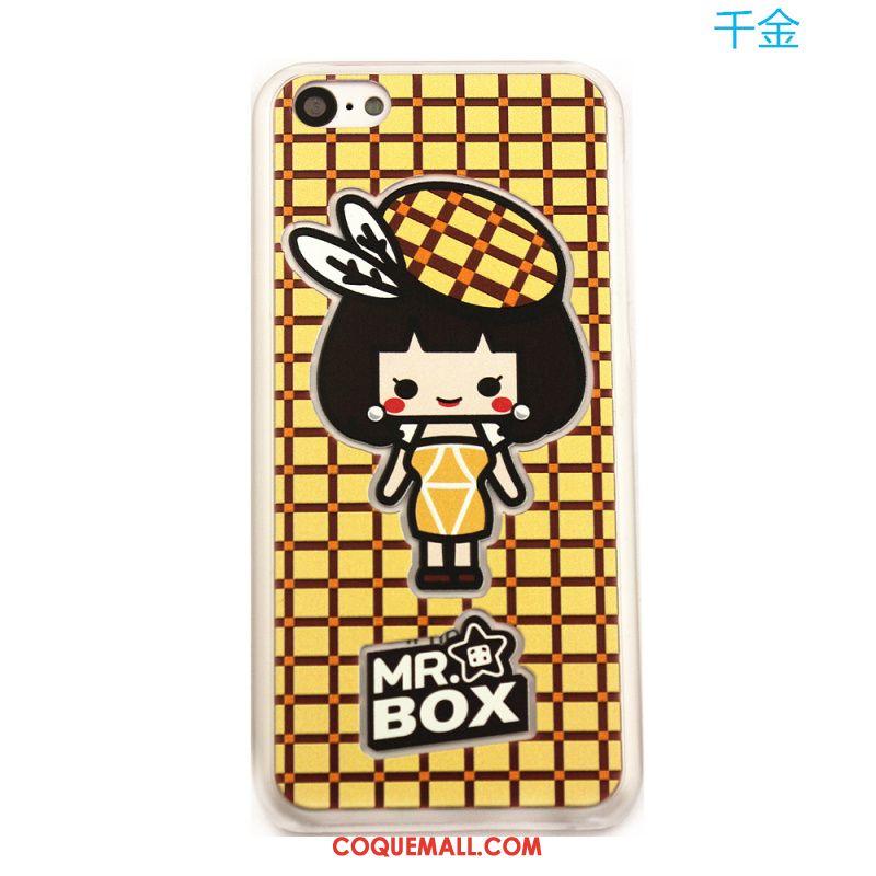 Étui iPhone 5c Couleur Vert Téléphone Portable, Coque iPhone 5c Dessin Animé Protection