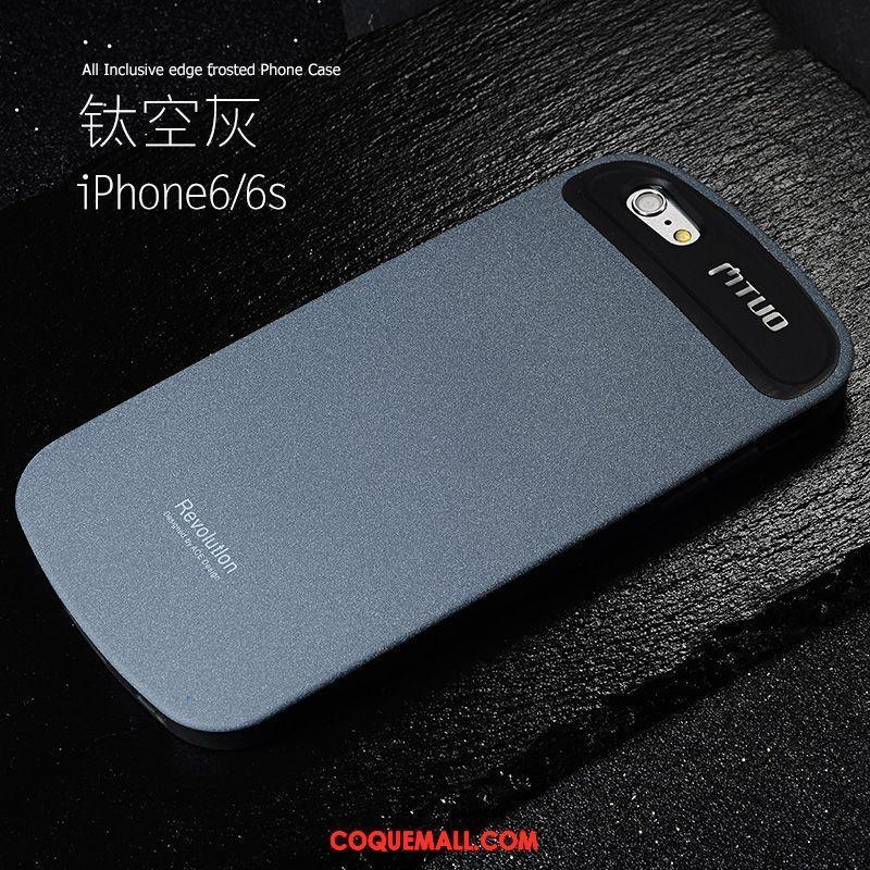 Étui iPhone 6 / 6s Incassable Délavé En Daim Téléphone Portable, Coque iPhone 6 / 6s Noir Tendance Beige