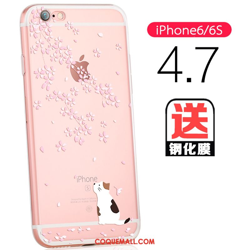 coque iphone 6 transparente rouge
