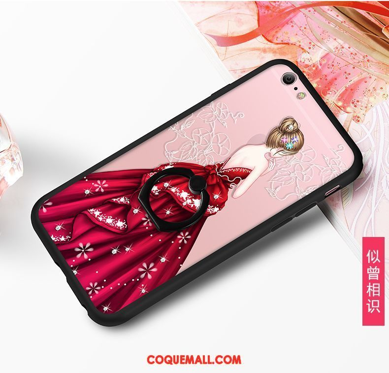 Étui iPhone 6 / 6s Rouge Tout Compris Téléphone Portable, Coque iPhone 6 / 6s Ornements Suspendus Créatif