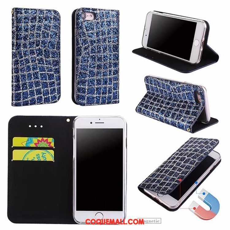 Étui iPhone 7 Incassable Fluide Doux Rose Coque iPhone 7 Téléphone Portable Noir 579 c01