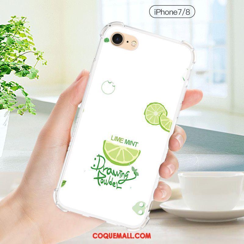 Étui iPhone 8 Créatif Personnalité Fluide Doux, Coque iPhone 8 Silicone Téléphone Portable