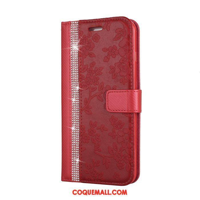 coque iphone 8 fleur rouge