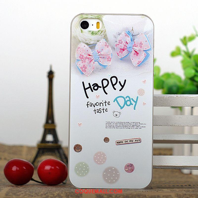 Étui iPhone Se Difficile Dessin Animé Téléphone Portable, Coque iPhone Se Gaufrage Vert