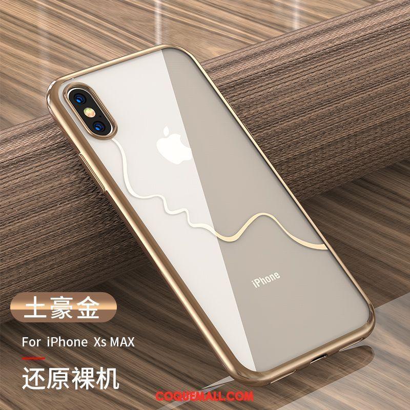 Étui iPhone Xs Max Tout Compris Nouveau Transparent, Coque iPhone Xs Max Net Rouge Très Mince