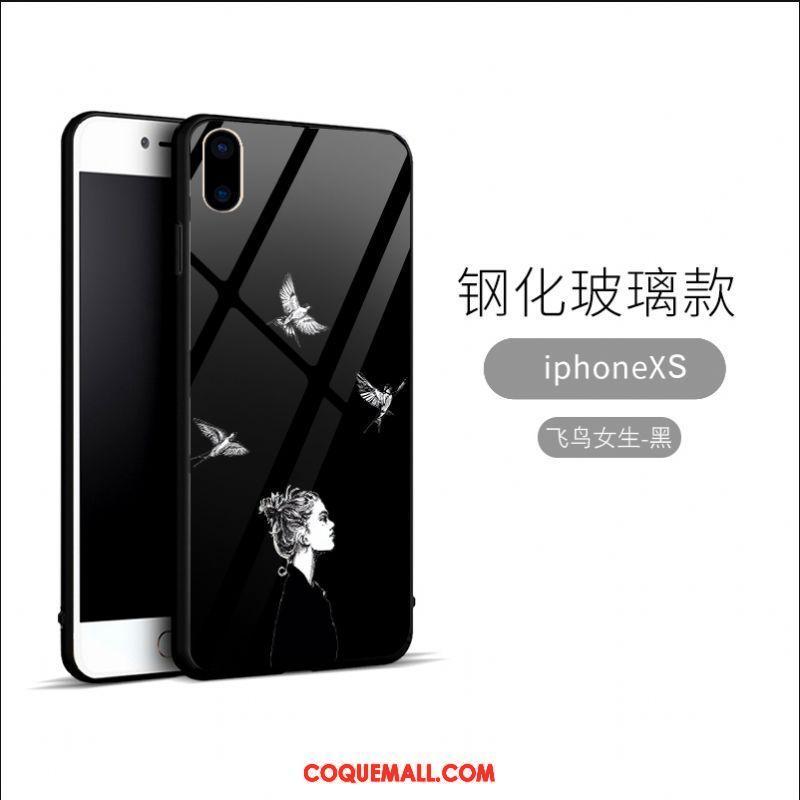 coque noir en verre iphone xs