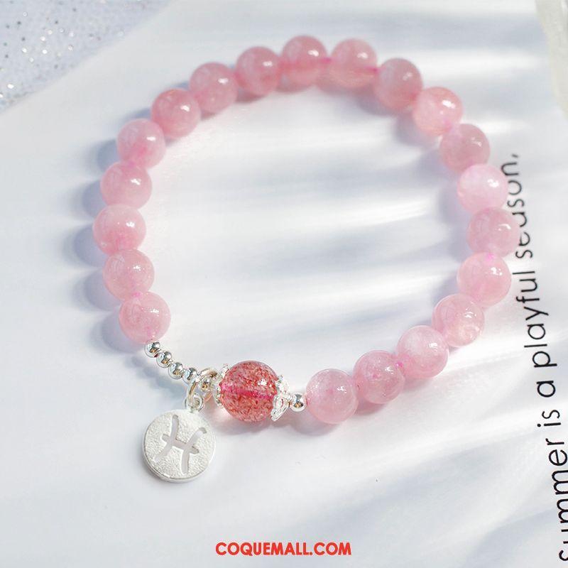 Bracelets Femme Pure Fraise Étudiant, Bracelets Cristal Poudre