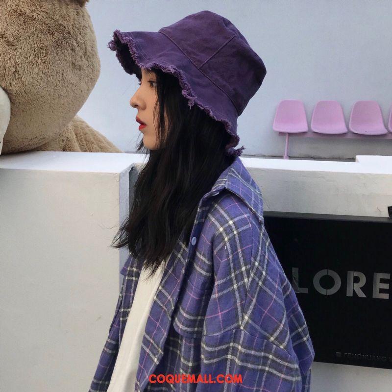 Casquette Chapeau Femme Chapeau Plier L'automne, Casquette Chapeau Violet Pure Couleur