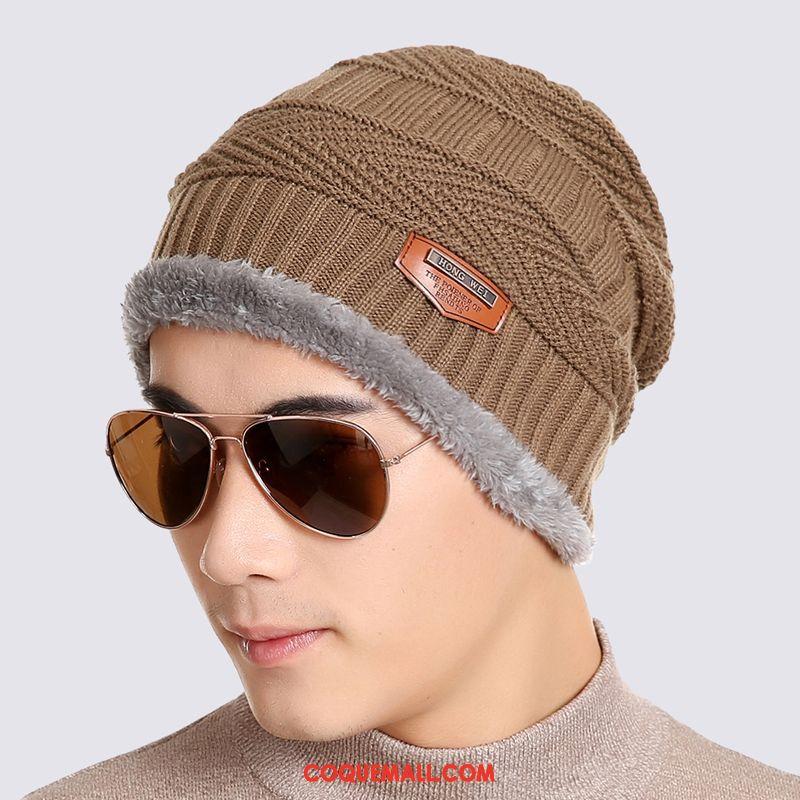 Casquette Chapeau Homme Bonnet De Laine Hiver Pullover, Casquette Chapeau Chapeau Bonnet Tricoté Braun