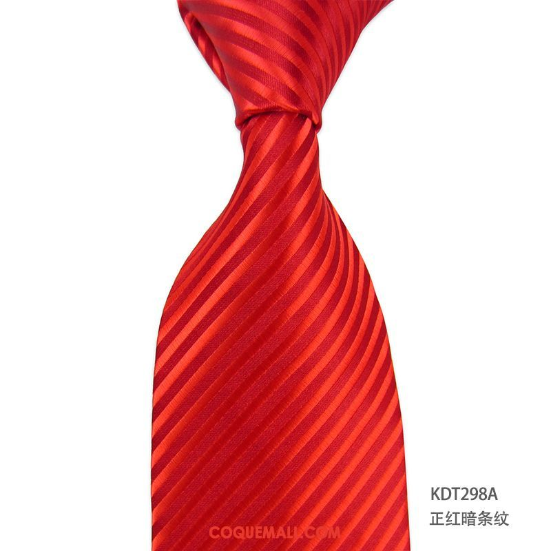 Cravate Homme Le Marié Entreprise Rouge, Cravate Boite Cadeau Mode