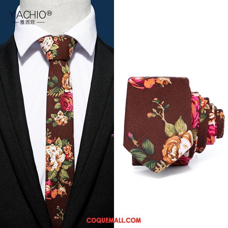 Cravate Homme Loisir Mode Boite Cadeau, Cravate Coton Rouge