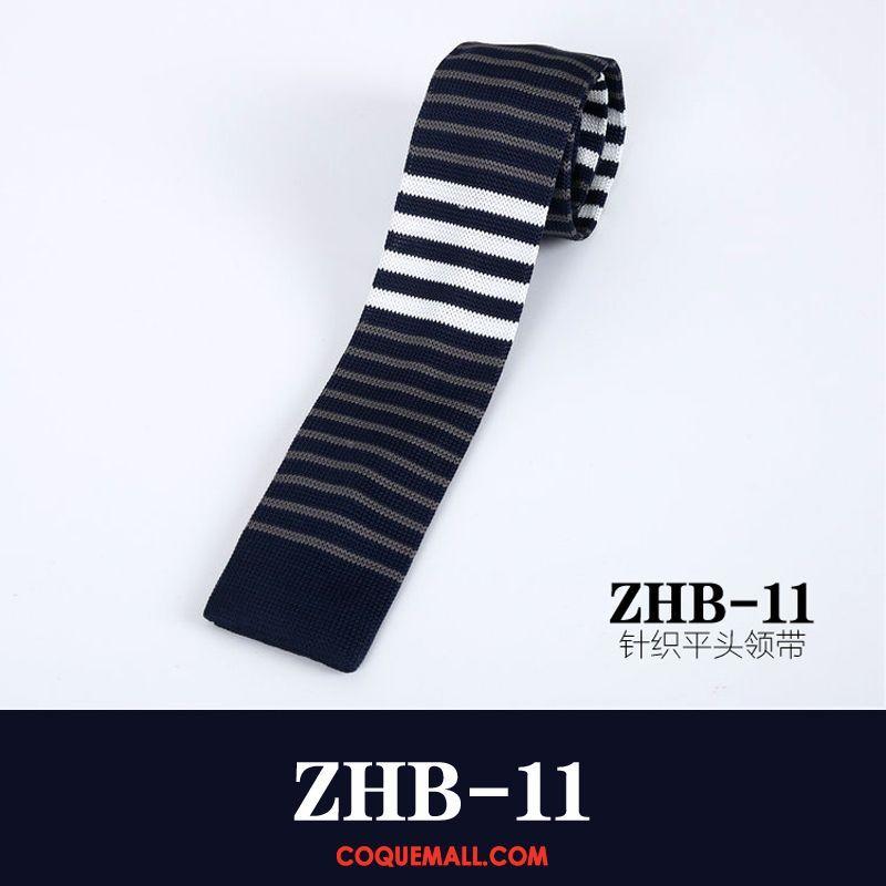 Cravate Homme Loisir Rouge Noir, Cravate Les Adolescents Étroit Blau