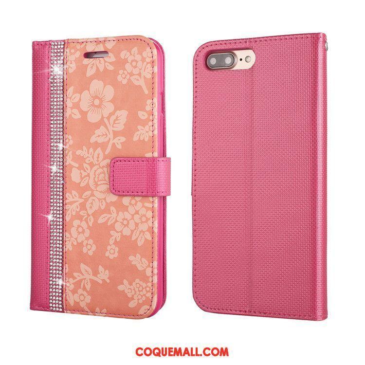 coque iphone 8 plus rouge a fleur