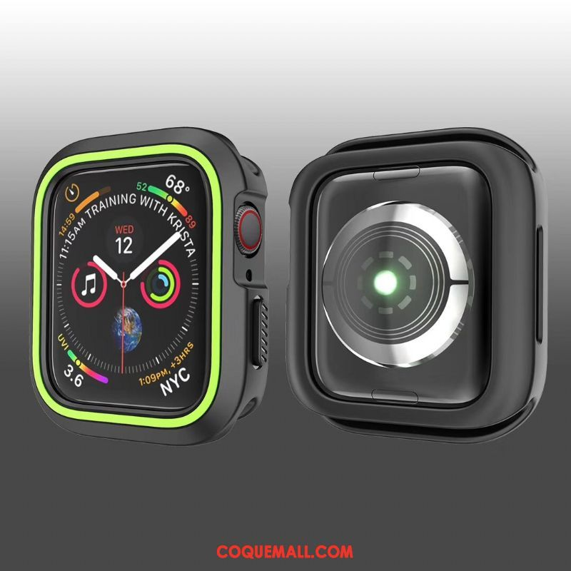 Étui Apple Watch Series 1 Fluide Doux Créatif Protection, Coque Apple Watch Series 1 Tout Compris Noir