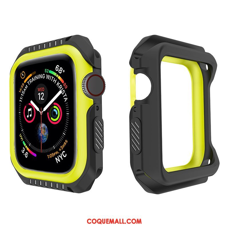 Étui Apple Watch Series 1 Incassable Jaune Fluide Doux, Coque Apple Watch Series 1 Protection Silicone