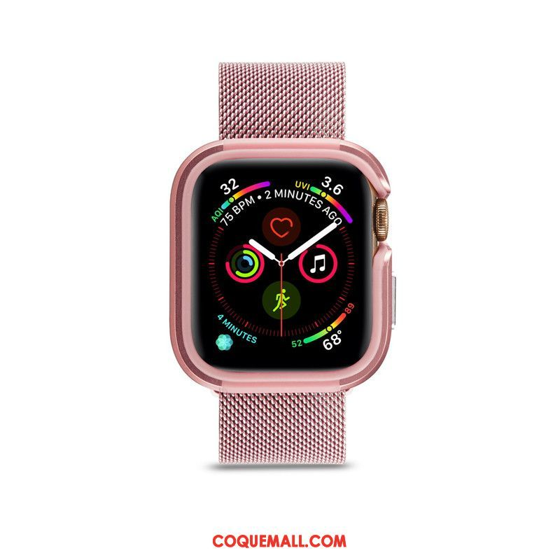 Étui Apple Watch Series 1 Métal Sac Tendance, Coque Apple Watch Series 1 Protection Border Beige