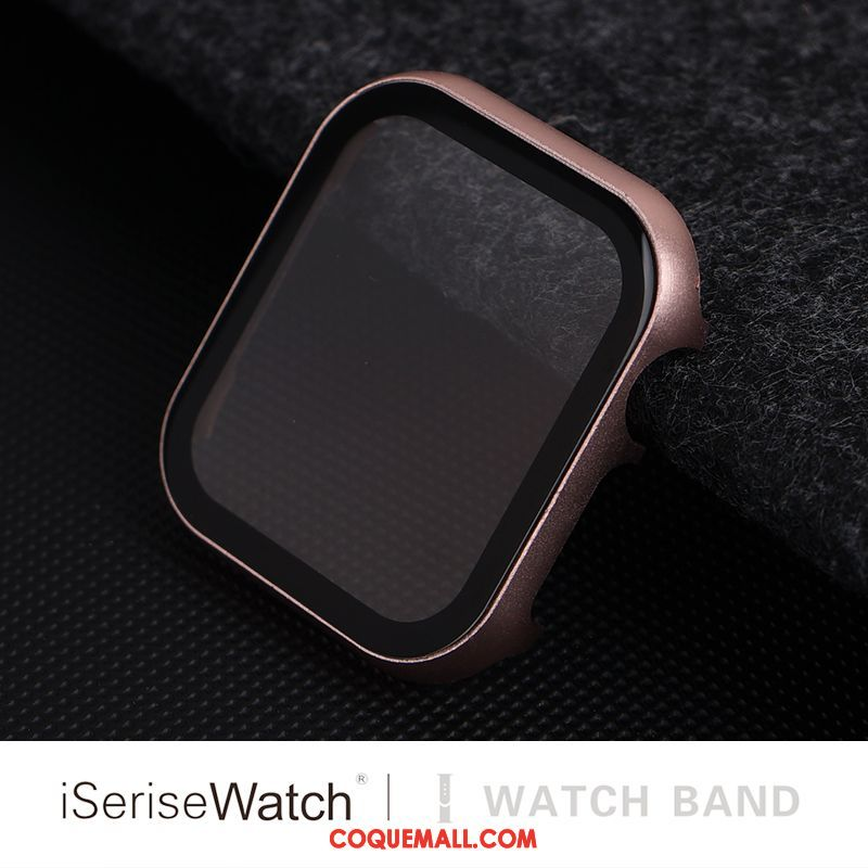 Étui Apple Watch Series 1 Membrane Protection Rose, Coque Apple Watch Series 1 Border Tempérer