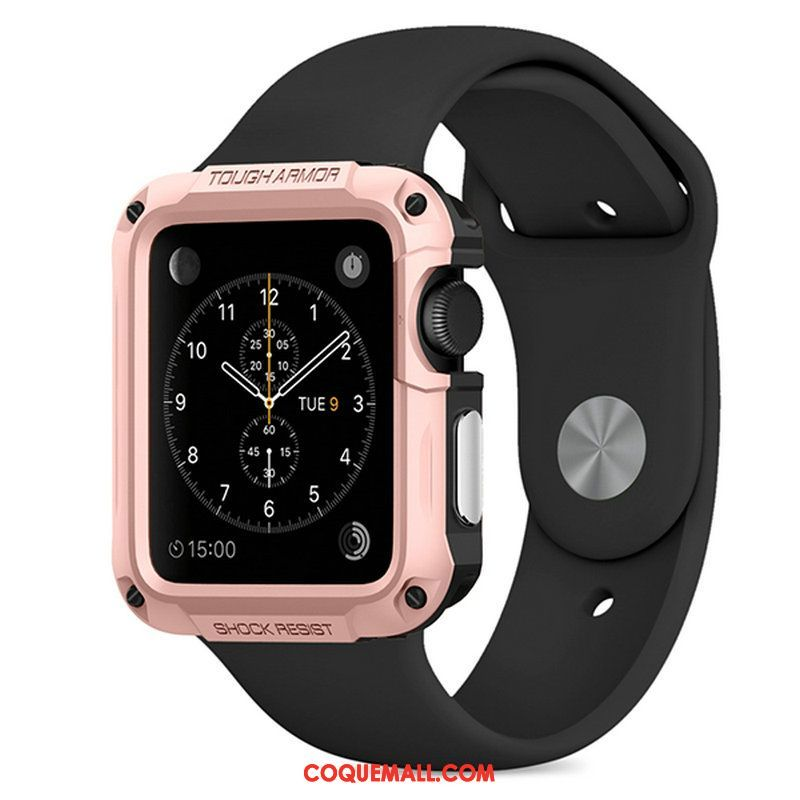 Étui Apple Watch Series 1 Outdoor Sport Protection, Coque Apple Watch Series 1 Or Rose