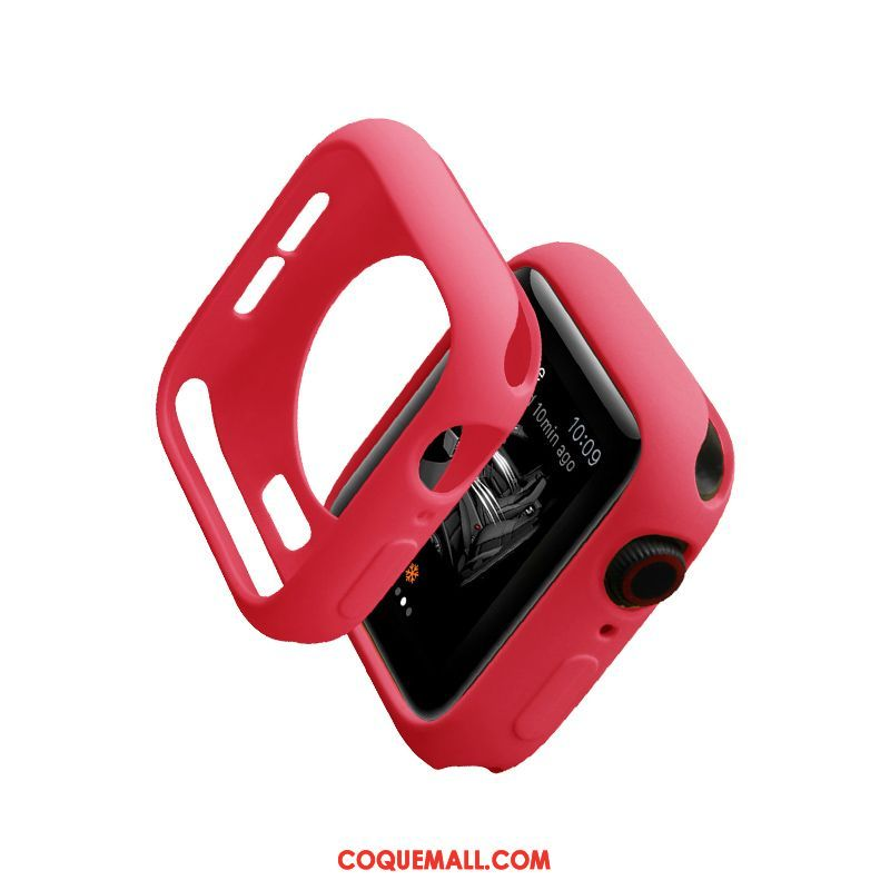 Étui Apple Watch Series 1 Protection Marque De Tendance Très Mince, Coque Apple Watch Series 1 Rouge Silicone
