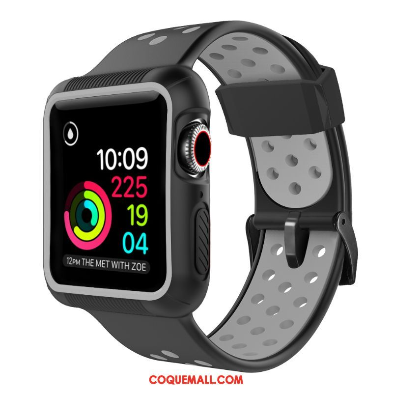 Étui Apple Watch Series 1 Protection Noir Incassable, Coque Apple Watch Series 1 Bicolore Tendance