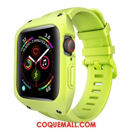 Étui Apple Watch Series 1 Silicone Incassable Vert, Coque Apple Watch Series 1 Protection Tout Compris
