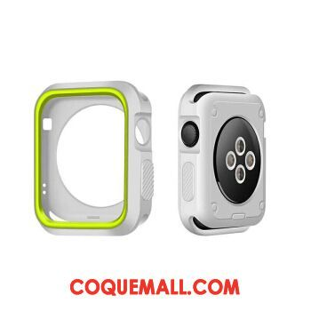 Étui Apple Watch Series 2 Bicolore Protection Silicone, Coque Apple Watch Series 2 Vert Blanc