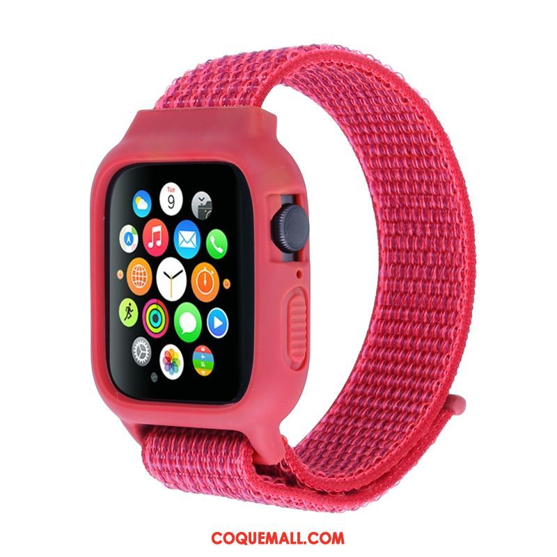 Étui Apple Watch Series 3 Nylon Protection Rouge, Coque Apple Watch Series 3