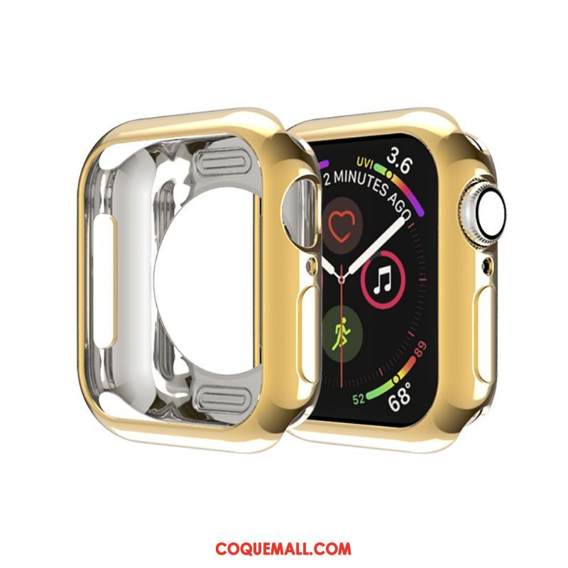 Étui Apple Watch Series 3 Or Fluide Doux Membrane, Coque Apple Watch Series 3 Border Silicone