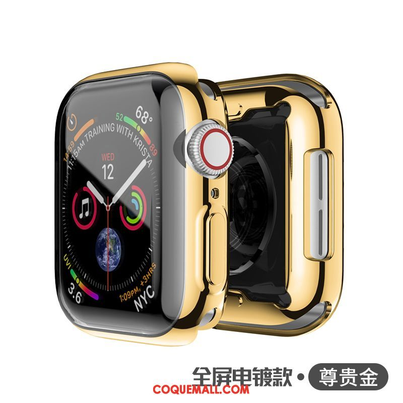 Étui Apple Watch Series 3 Or Transparent Protection, Coque Apple Watch Series 3 Jours Métal