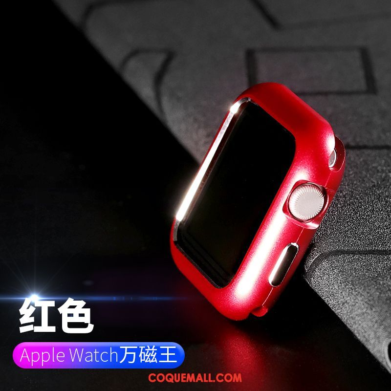 Étui Apple Watch Series 3 Rouge Tout Compris Border, Coque Apple Watch Series 3 Métal Placage
