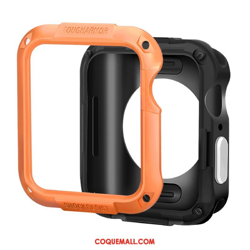 Étui Apple Watch Series 3 Silicone Incassable Accessoires, Coque Apple Watch Series 3 Protection Orange
