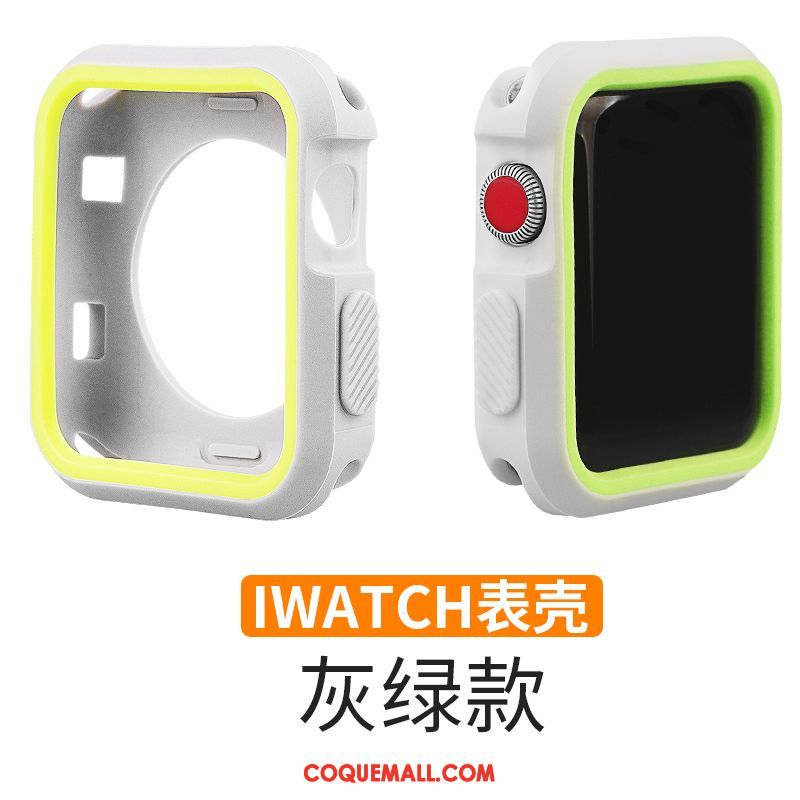 Étui Apple Watch Series 3 Tendance Incassable Gris, Coque Apple Watch Series 3 Accessoires Protection
