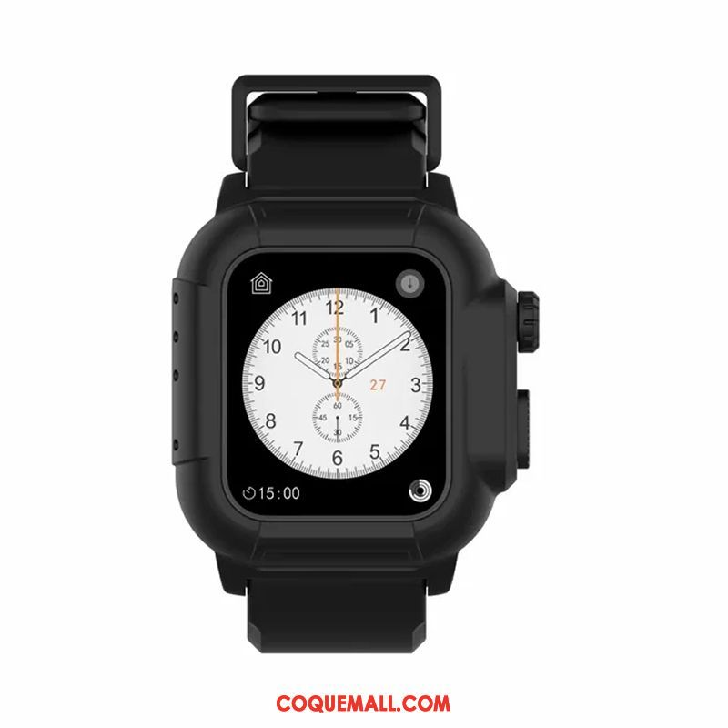 Étui Apple Watch Series 3 Tendance Noir Imperméable, Coque Apple Watch Series 3 Protection Running