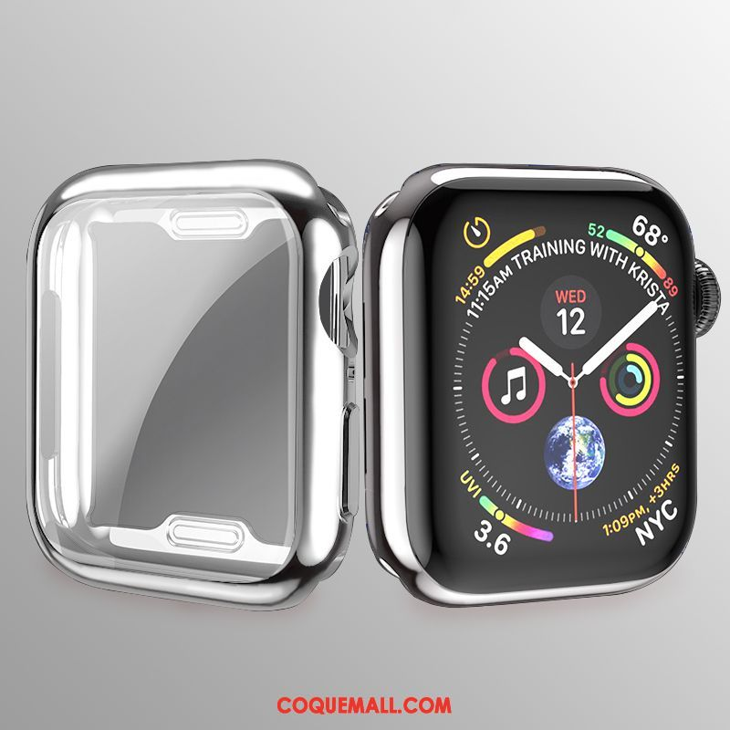 Étui Apple Watch Series 3 Tout Compris Membrane Très Mince, Coque Apple Watch Series 3 Silicone Argent