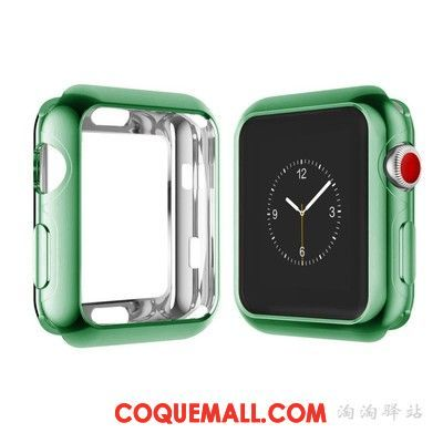 Étui Apple Watch Series 3 Vert Fluide Doux Protection, Coque Apple Watch Series 3 Tout Compris Border