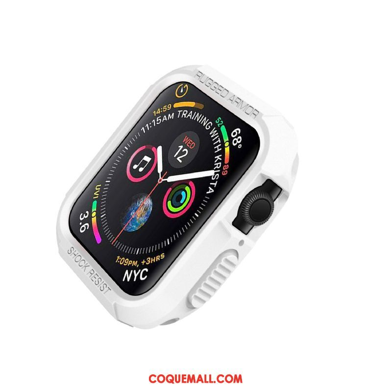 Étui Apple Watch Series 4 Blanc Protection Incassable, Coque Apple Watch Series 4 Silicone