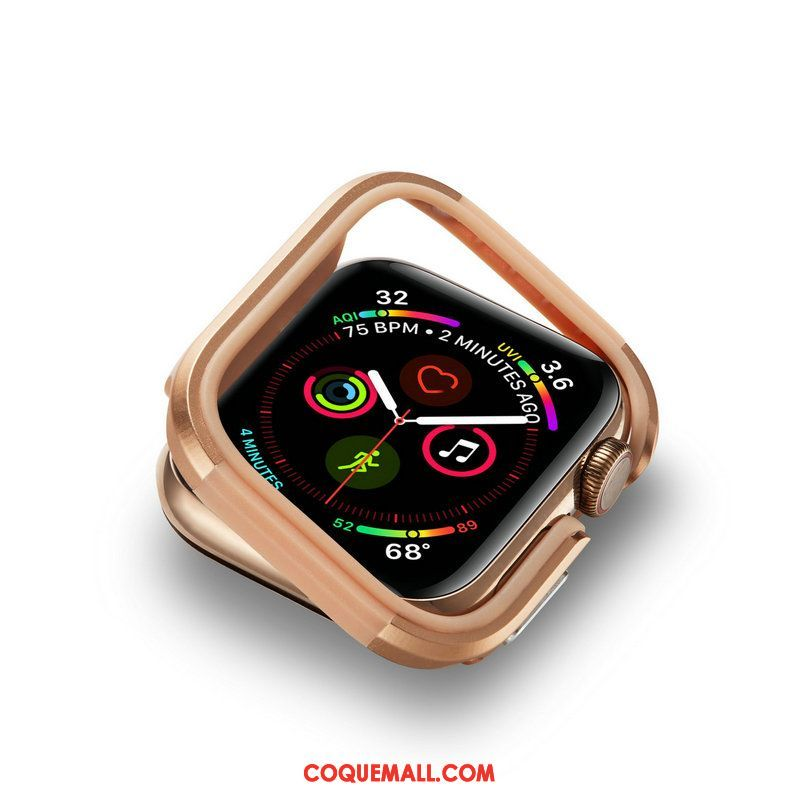 Étui Apple Watch Series 4 Border Incassable Métal, Coque Apple Watch Series 4 Protection